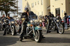Large motorcycle contingent at Martin Luther King Jr Parade