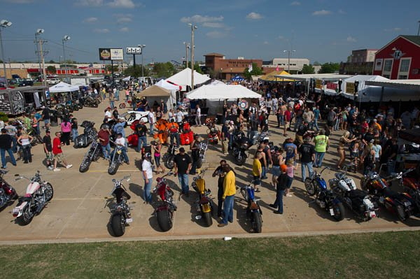 Tens of thousands of motorcyclists from all across Oklahoma show up for Thunder Run, the largest motorcycle event in Oklahoma.