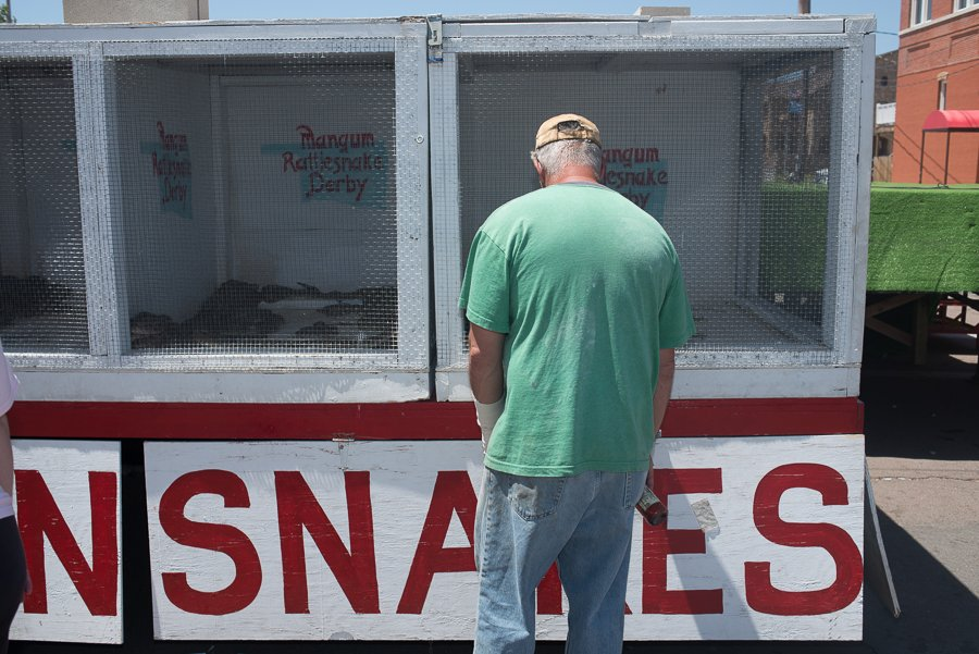 Snakes in cages.  Just laying there rattling.  I guess it is better than snakes in a plane.