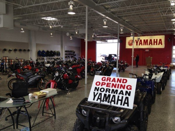 Norman Yamaha carries the full line of Yamaha motorcycles and ATV's. Photo courtesy of Bill Dragoo.