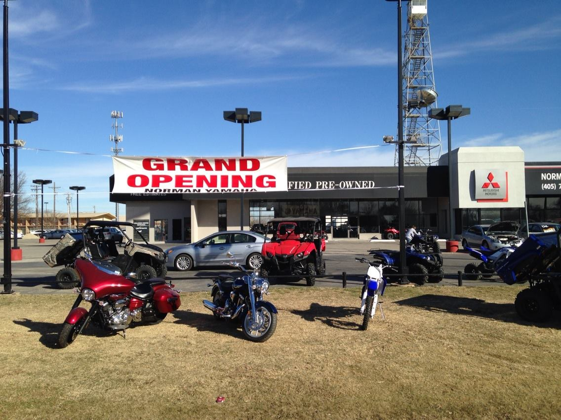 Norman yamaha grand opening ride oklahoma for Yamaha motorcycles okc