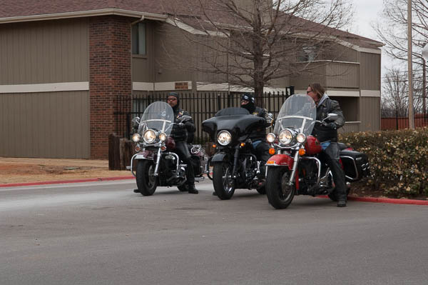 It was a cold February day when the Wind and Fire motorcycle club went to a local Walmart and purchased clothes, supplies, toys and other necessities for a family devastated by a fire.