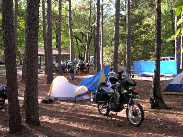 Great motorcycle camping is available at Clayton Lake State Park, 5 miles southeast of Clayton.
