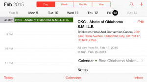 Ride Oklahoma Events Calendar updated for 2015