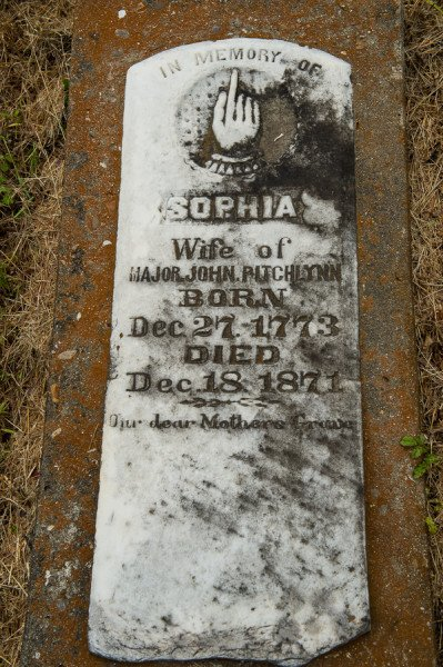 The grave of Sophia Pitchlynn is the oldest known gravestone in Oklahoma. She was born in 1773, well before American declared independence from Britain.
