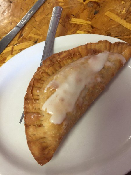 Grab a fresh cooked fried pie at David's Cafe.