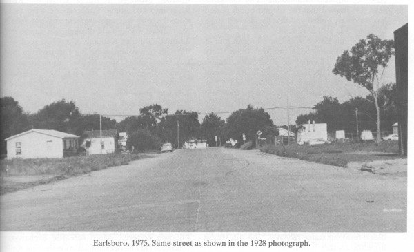 Earlsboro, 1975. Same street as shown in the 1928 photo.