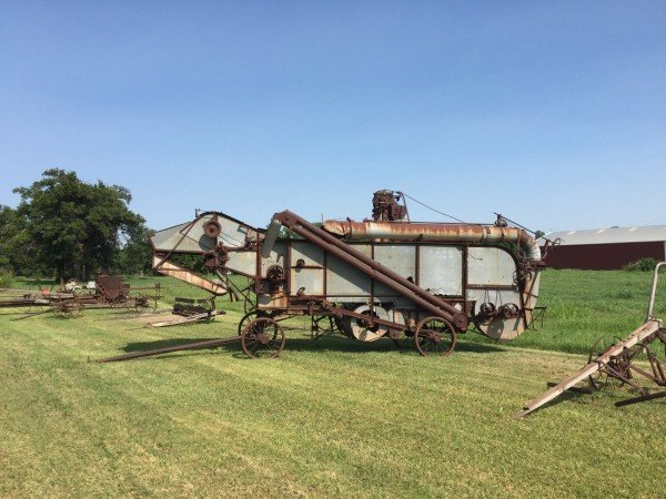 This antique farm equipment is a recent addition to the route.