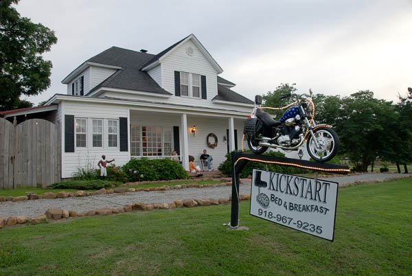 Mike and Patty Youngpeter's Kickstart Bed & Breakfast is the perfect place to spend the evening in eastern Oklahoma.