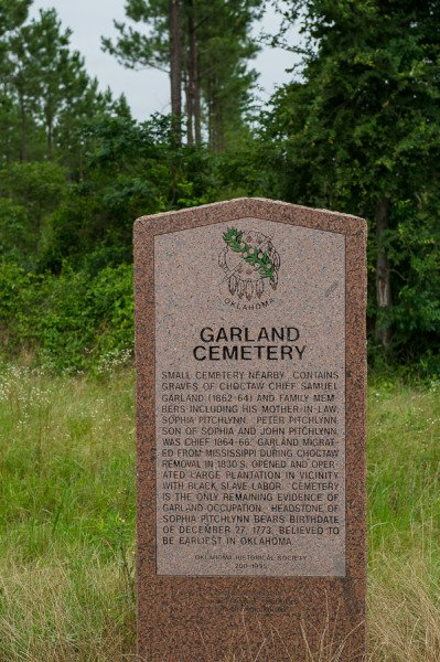 Garland Cemetary is home to the oldest known gravestone in Oklahoma.