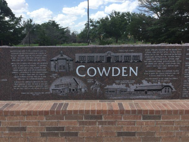 Past students of Cowden Independent School District erected this monument.
