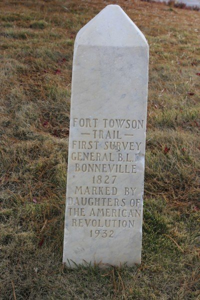 This marker is at the beginning of the Old Military Road from Fort Smith to Fort Towson. It also is where the Butterfield Overland Mail and Stage Route began in Fort Smith in 1857.
